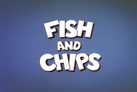 Screenshots from the 1963 Walter Lantz cartoon Fish and Chips