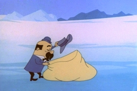 Screenshots from the 1963 Walter Lantz cartoon Case of the Cold-Storage Yegg