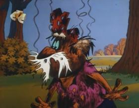 Screenshots from the 1963 Walter Lantz cartoon Coy Decoy