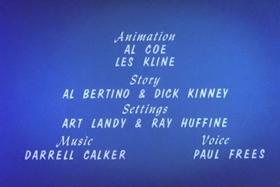 Screenshots from the 1963 Walter Lantz cartoon Goose in the Rough