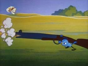Screenshots from the 1963 Walter Lantz cartoon The Tenant
