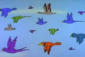 Screenshots from the 1963 Walter Lantz cartoon Pesky Pelican
