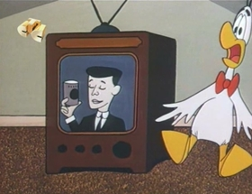 Screenshots from the 1963 Walter Lantz cartoon The Goose Is Wild