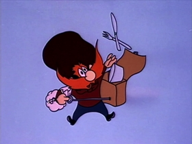 Screenshots from the 1963 Warner Brothers cartoon Devil
