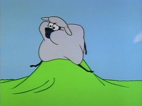 Screenshots from the 1963 Warner Brothers cartoon Woolen Under Where