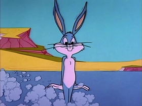 Screenshots from the 1963 Warner Brothers cartoon Hare-Breadth Hurry