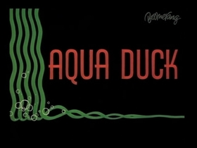 Screenshots from the 1963 Warner Brothers cartoon Aqua Duck