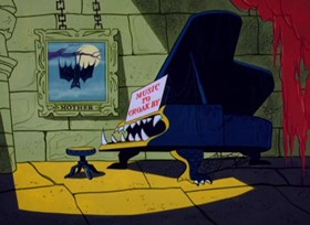 Screenshots from the 1963 Warner Brothers cartoon Transylvania 6-5000