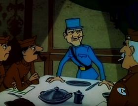 Screenshots from the 1964 Warner Brothers cartoon Dumb Patrol