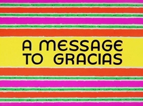 Screenshots from the 1964 Warner Brothers cartoon A Message to Gracias