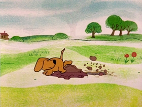 Screenshots from the 1964 Warner Brothers cartoon Bartholomew Versus the Wheel
