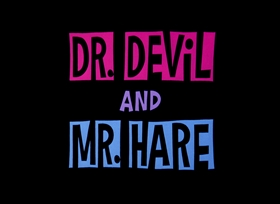 Screenshots from the 1964 Warner Brothers cartoon Dr. Devil and Mr. Hare