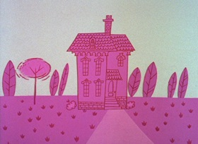 Screenshots from the 1964 DePatie Freleng cartoon The Pink Phink