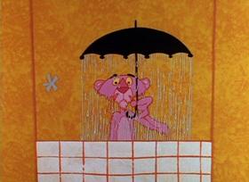 Screenshots from the 1964 DePatie Freleng cartoon Pink Pajamas