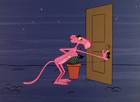 Screenshots from the 1964 DePatie Freleng cartoon Pink Pajamas