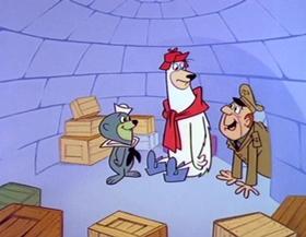 Screenshots from the 1964 Hanna-Barbera cartoon Missle Fizzle