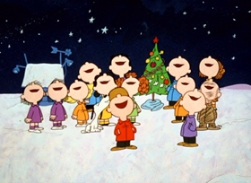Screenshots from the 1965 Bill Melendez Productions cartoon A Charlie Brown Christmas
