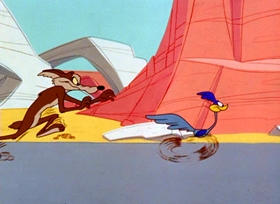 Screenshots from the 1965 Warner Bros. cartoon Boulder Wham!