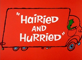 Screenshots from the 1965 Warner Brothers cartoon Hairied and Hurried