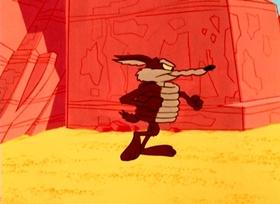 Screenshots from the 1965 Warner Brothers cartoon Highway Runnery