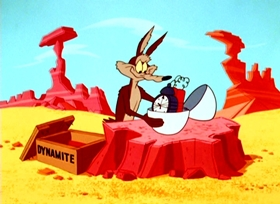 Screenshots from the 1965 Warner Bros. cartoon Highway Runnery