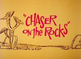 Screenshots from the 1965 Warner Brothers cartoon Chaser on the Rocks
