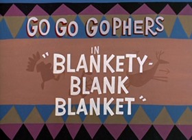 Screenshots from the 1965 Total Television cartoon Blankety Blank Blanket