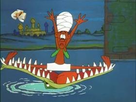 Screenshots from the 1965 Walter Lantz cartoon The Case of the Elephant