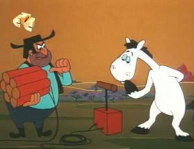 Screenshots from the 1965 Walter Lantz cartoon Woodpecker Wanted