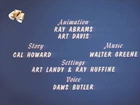 Screenshots from the 1965 Walter Lantz cartoon Fractured Friendship