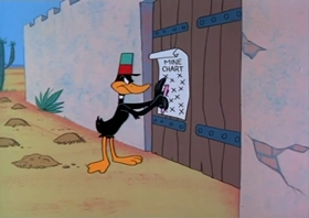 Screenshots from the 1965 Warner Brothers cartoon Assault and Peppered