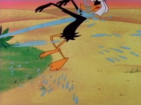 Screenshots from the 1965 Warner Brothers cartoon Well Worn Daffy