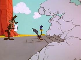 Screenshots from the 1965 Warner Brothers cartoon Run, Run, Sweet Road Runner