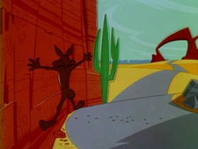 Screenshots from the 1965 Warner Brothers cartoon Just Plane Beep