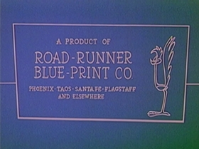 Screenshots from the 1965 Warner Brothers cartoon Roadrunner a Go Go