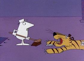 Screenshots from the 1965 DePatie Freleng cartoon We Give Pink Stamps