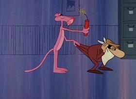 Screenshots from the 1965 DePatie Freleng cartoon Dial