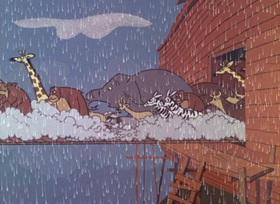 Screenshots from the 1965 DePatie Freleng cartoon Sink Pink