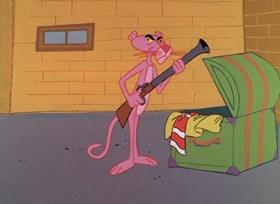 Screenshots from the 1965 DePatie Freleng cartoon Shocking Pink