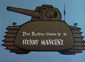 Screenshots from the 1965 DePatie Freleng cartoon Pink Panzer
