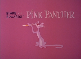 Screenshots from the 1965 DePatie Freleng cartoon Reel Pink