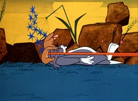 Screenshots from the 1966 MGM cartoon Duel Personality