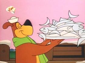 Screenshots from the 1966 Walter Lantz cartoon Teeny Weeny Meany