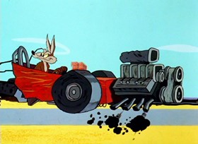 Screenshots from the 1966 Warner Brothers cartoon Out and Out Rout