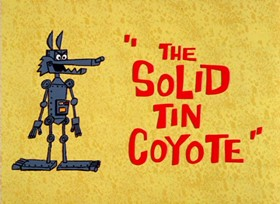 Screenshots from the 1966 Warner Bros. cartoon The Solid Tin Coyote