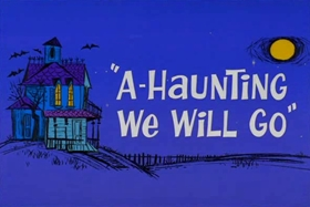 Screenshots from the 1966 Warner Brothers cartoon A-Haunting We Will Go