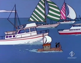 Screenshots from the 1966 Warner Brothers cartoon A Squeak in the Deep