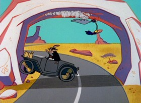 Screenshots from the 1966 Warner Brothers cartoon Sugar and Spies