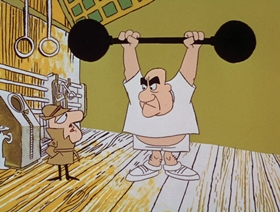 Screenshots from the 1966 DePatie Freleng cartoon Napoleon Blown-Aparte