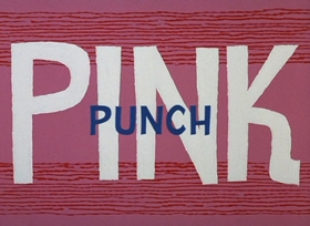 Screenshots from the 1966 DePatie Freleng cartoon Pink Punch